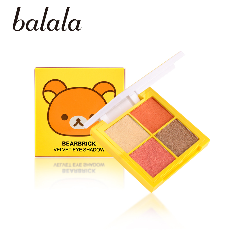 BALALA Bearbrick Velvet Eye Shadow Palette Eye Makeup Eye Shadow Super Stage Fit Palette Cosmetic Makeup Set Nude Eye Shadow jyq 084 flower and leaves pattern eye shadow stickers set red green pair