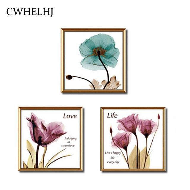 Us 9 75 25 Off Parsial Pemula Diy Berlian Bordir Bunga Sederhana Berlian Lukisan Tanaman Tulip Putaran Berlian Mosaik Cross Stitch Dekorasi Dinding
