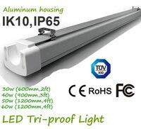60cm 90cm 120cm 2' 3' 4' Industrial High Bay LED Tri proof Hanging Lighting Safety Depot Light IK10 IP65 Dustproof
