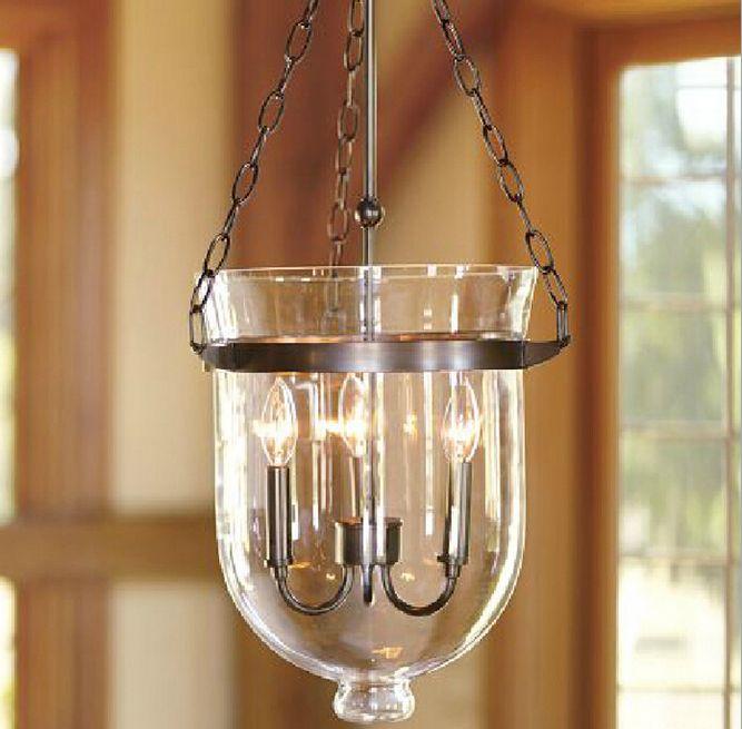 Verre créatif pendentif lumières bougie plafonnier pendentif luminaire verre luminaires seau suspension lampe Art déco RH maison