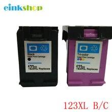 For HP 123 Ink Cartridges Deskjet 2130 1112 3630 3632 3635 Officejet 3830 4650 4655 ENVY 4516 4520 Printer Cartridge