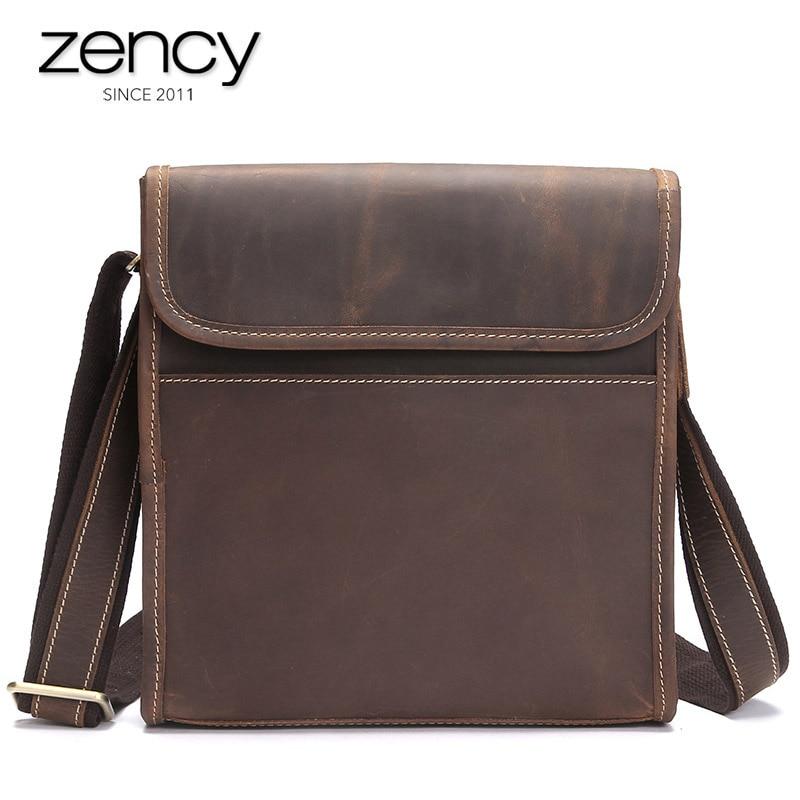 все цены на 2018 New Arrival Men's Genuine Leather Shoulder Bags High Quality Men Vintage Ipad Holder Ruksacks Design Fashion Messenger bags