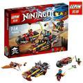 LEPIN 06025 Ninjagoes building block ladrillo Doble Huelga Ninja motocicleta Ciclón Nya Kai mini bloques compatibles con lego