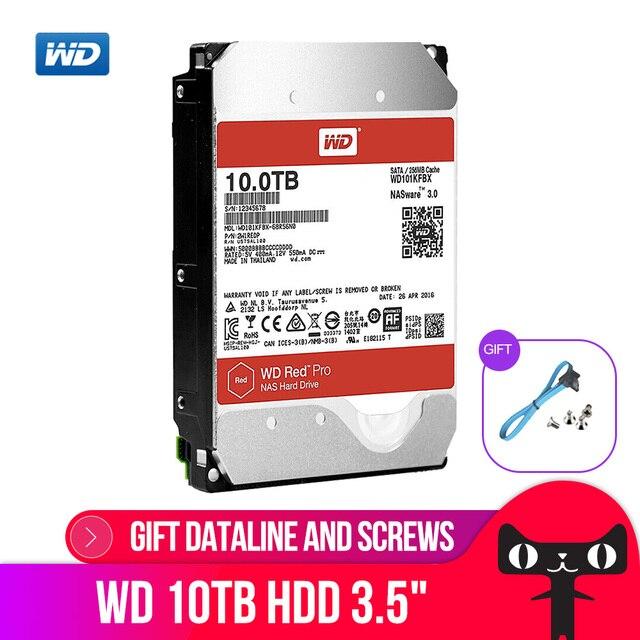 WD RED Pro 10 TB Disco di Storage Di Rete di 3.5 NAS Hard Disk Disco Rosso 10 TB 7200 RPM 256 M di Cache SATA3 HDD 6 Gb/s