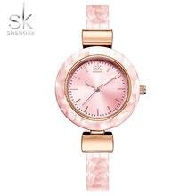 ShengKe Brand Luxury Women Watches Minimalism Fashion Dress Lady's Bracelet Watch Waterproof Wristwatch Simple Female Gift Clock