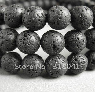 Free shipping 4-12mm volcano stone beads, vesuvianite beads for bracelet necklaces, volcano Lava stone fit jewelry