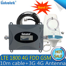 1 Set GSM 1800 4G FDD LTE Cellular Repeater Mobile Signal GSM Booster 1800mhz repetidor de sinal celular 70dB Gain LCD Amplifier