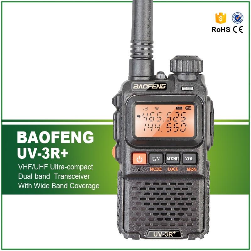 imágenes para Envío Gratis Baofeng UV-3R plus 136-174 MHZ/400-470 MHZ Ham Radio VHF UHF de Banda Dual Baofeng BF-uv3r Plus