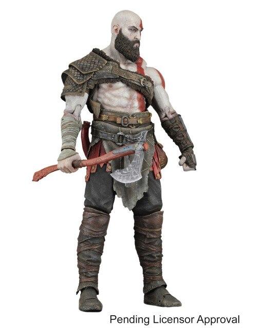Jogo NECA God Of War Kratos Com Machado Colecionáveis Modelo de Brinquedo Figura de Ação de PVC 7 polegada