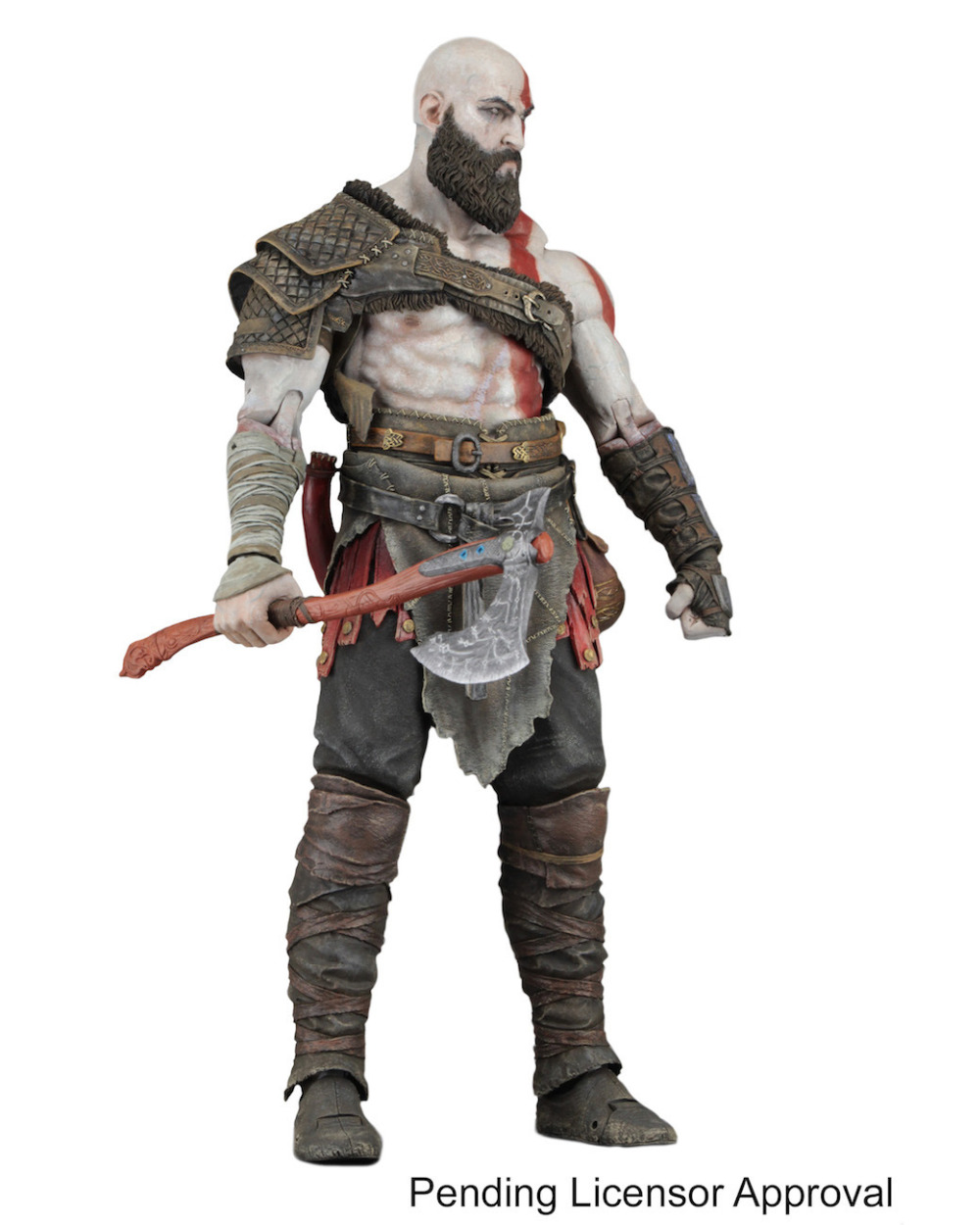NECA Game God Of War Kratos With Axe PVC Action Figure 7 inch Collectables Model Toy god of war 2 pvc action figure display toy doll kratos with medusa head