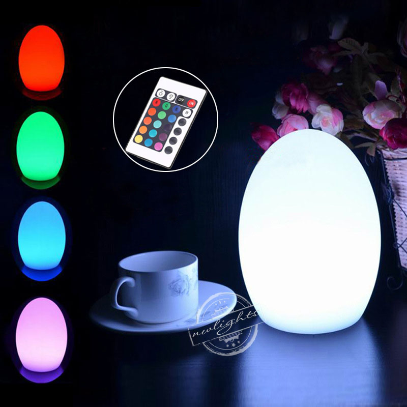D14H19cm Romantic Table LED Lamps 24key Remote Control Multi Colour Changing Bar Dining Room