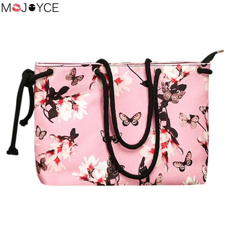 Women Large Capacity PU Tote Handbag Designer Daffodil Print Shopping Bohemian Bag feminina Casual Shoulder Bag mujer