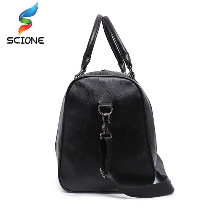 Hot Top PU Leather Gym Bag Large Training Sports Bag For Men Women Travel  Yoga Handbags Fitness Multifunction Shoulder Bag-in Gym Bags from Sports ... f6f576e39d
