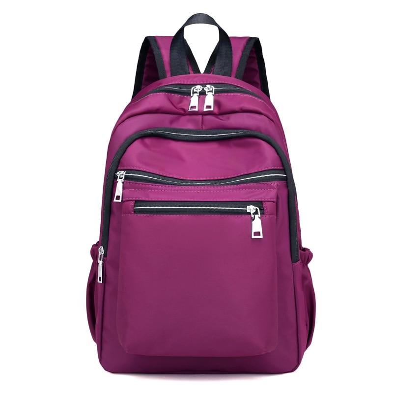 School Backpack for Teenage Girl Mochila Feminina Women School Shoulder Bags Nylon Waterproof Casual Laptop Bagpack Female Sac women casual backpack for teenage girls children school bags bagpack lady laptop backpack student book bag schoolbags pink blue