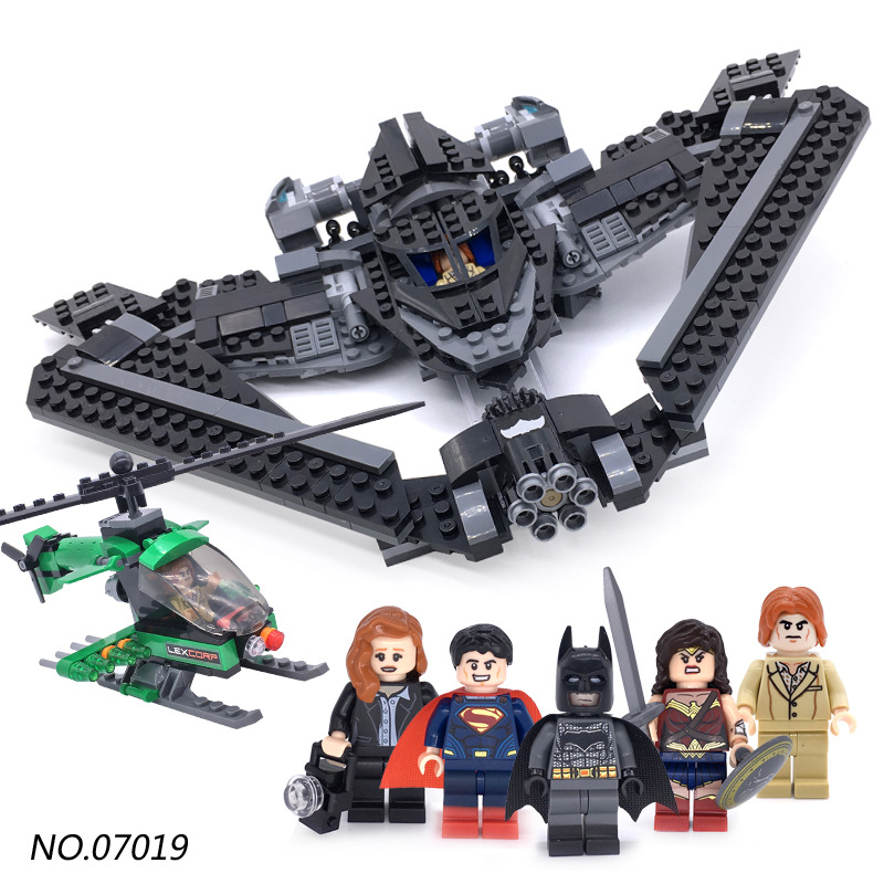07019 Superheroes Batman V Superman Dawn of Justice Batwing Batplane Fighter Building Blocks Super Heroes Kids Gift LEPIN