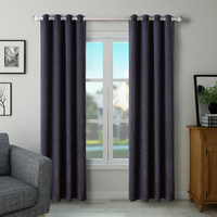 Luxury Blackout Curtain for Living Room Bedroom Window Drapes Polyester Fabric Black and Red Rideaux Pour Le Salon
