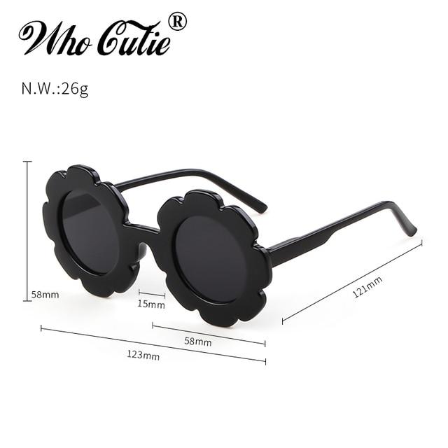 WHO CUTIE Round Flower kids sunglasses Brand Designer Girl Boy Goggles Cute Baby Sun glasses UV400 Lens Shades Children Toddler 4