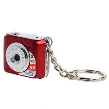 Бесплатная доставка самый маленький в мире Mini DV Металлический брелок изысканный 480 P HD цифровой мини Камара Поддержка MicroSD карты памяти
