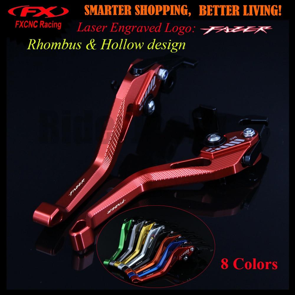 3D design (Rhombus Hollow) Red Motorcycle CNC Adjustable Brake Clutch Lever For Yamaha FZS 600 FZS600 Fazer 1998-2003 2001 2002 adjustable cnc billet alu long folding adjustable brake clutch levers for yamaha fz6 fazer 1997 2003 1998 1999 2000 2001 2002