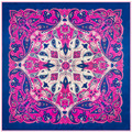 New Arrival Print Bohemia Style 100% Silk Square Scarf Size 100 cm*100 cm Large Square Scarf For Women Fashion Lady Shawl