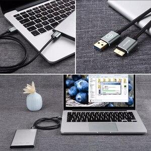 Image 5 - Lano usb 3.0 tipo a micro b usb3.0 cabo de cabo de sincronização de dados para disco rígido externo hdd samsung s5 USB C cabo de disco rígido