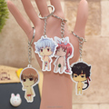 Gintama acrylic Keychain Pendant Car Key Chain Key Accessories Cute Japanese Cartoon Collections 4 Styles YH005 LTX1