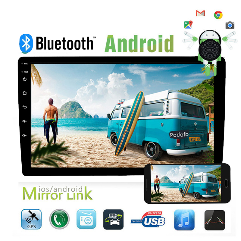 "7"" 2din Car Multimedia Player Universal Android 8.1 Car Radio Stereo Audio Player GPS Support Rear View Camera Mirror Link"