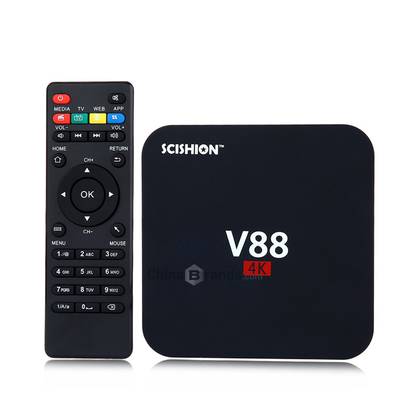 SCISHION V88 Android 5.1 Smart TV Box Rockchip 3229 Quad Core 4 K H.265 1G DDR3