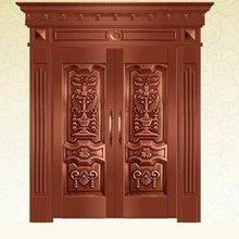 Дверная Петля безопасности медные входные двери античная медь Ретро двери двойные ворота входные двери H-c2