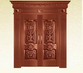 Bronze Door Security Copper Entry Doors Antique Copper Retro Door Double Gate Entry Doors H-c2
