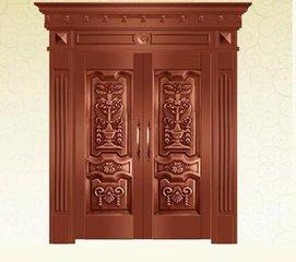 Bronze door security copper entry doors antique Copper Retro Door Double Gate Entry Doors H-c2