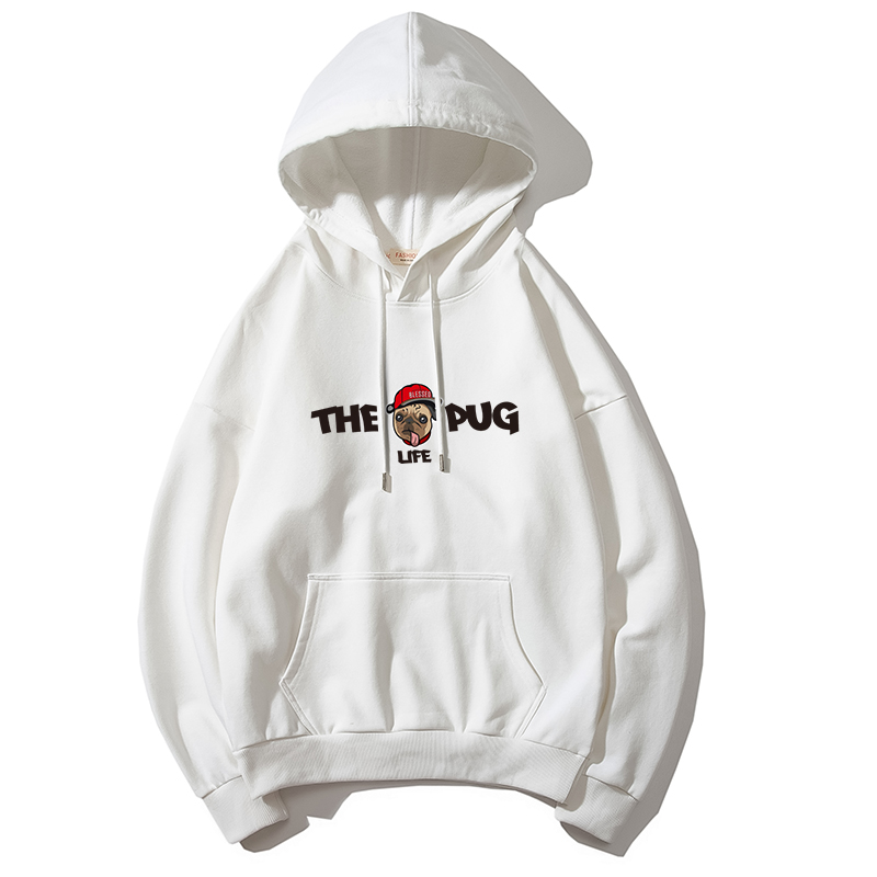 2019 Autumn Winter Harajuku Anime Dog Print Hoodies Men Sweatshirts Big Size Casual THE LIFE PUG Funny Black Hoody Man Pullovers in Hoodies amp Sweatshirts from Men 39 s Clothing