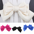 (50 pieces/lot) Big Bow wedding Belts for Woman Elastic Belt dress ceinture femme 5 color woman strap lady Apparel Accessory