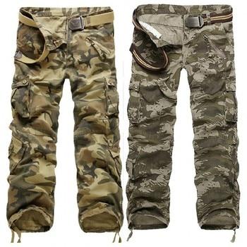 Men's Pants 2019 Fashion Brand Men Length Trousers Military Cargo Camouflage Pant Joggers Sweatpants Casual Tactical Pants 2