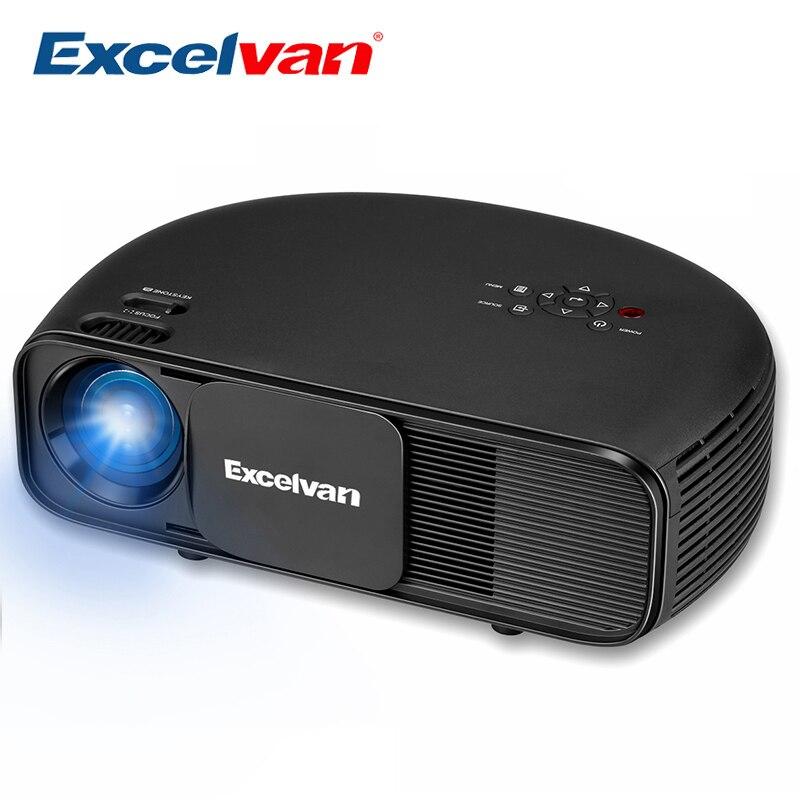Excelvan CL760 HD LCD LED Projector 3200 Lumen 1080P Video Games TV Home Theater Projecyor Movie Beamer PK CL720 50,000 Hrs Time bone para bordar