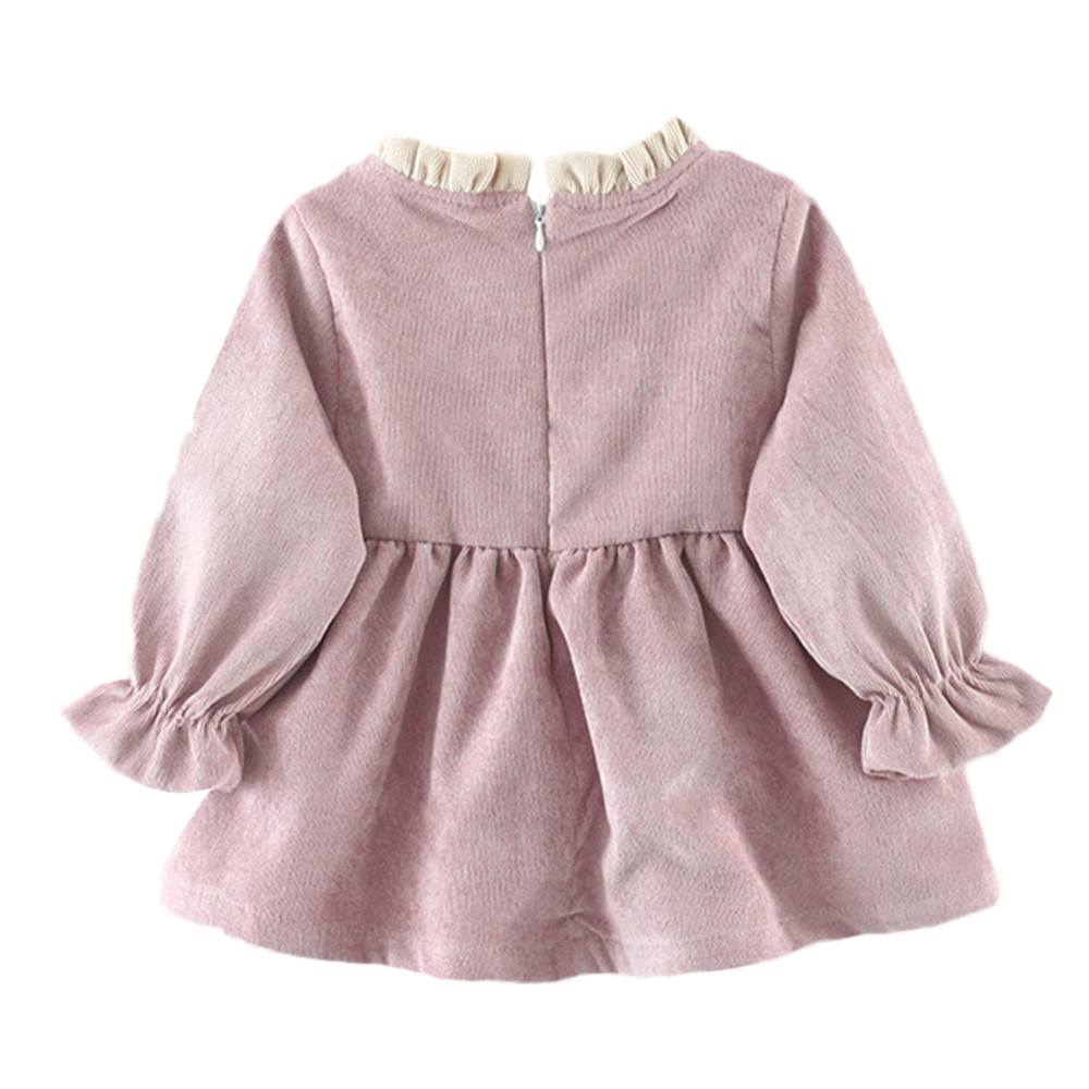 Multitrust Brand Newborn Kids Baby Girl Long Sleeve Bowknot Princess Pink  Purple Party Dress Winter Autumn Cute Clothes  YL-in Dresses from Mother    Kids on ... 52396bcaaf33