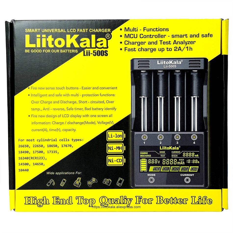 LiitoKala Lii-500S batterie chargeur 18650 chargeur Pour 18650 26650 21700 AA piles AAA Tester la capacité de la batterie de contrôle Tactile - 5