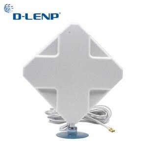 Image 1 - Antena 2 ts9 do ganho 4g para a antena do roteador do modem 4g com amplificador de sinal do cabo de 2 m antenas de 4g mimo com o ganho 4g 35dbi