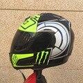 Nueva llegada de valentino rossi no. 46 casco de la motocicleta hombres de la cara llena del casco de carreras de karts motociclistas capacete casco de moto casco