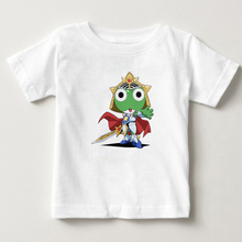 2018 the latest children t - shirts Cartoon Keroro shirt Short sleeved cotton digital printing boys and girls T MJ