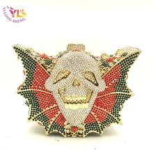 Vintage Handbags Clutch Crystal Clutch Fancy Bags Wild Skull Design Women New Handbags Crossbody Messerger Bags in YLS-SK05(China)