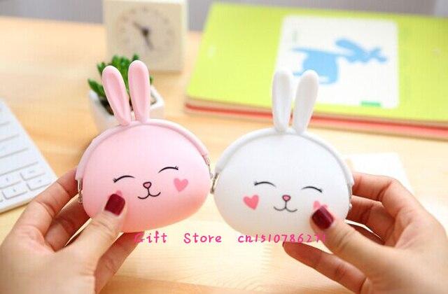 Super Cute Little Rabbit Silicone Coin Bag