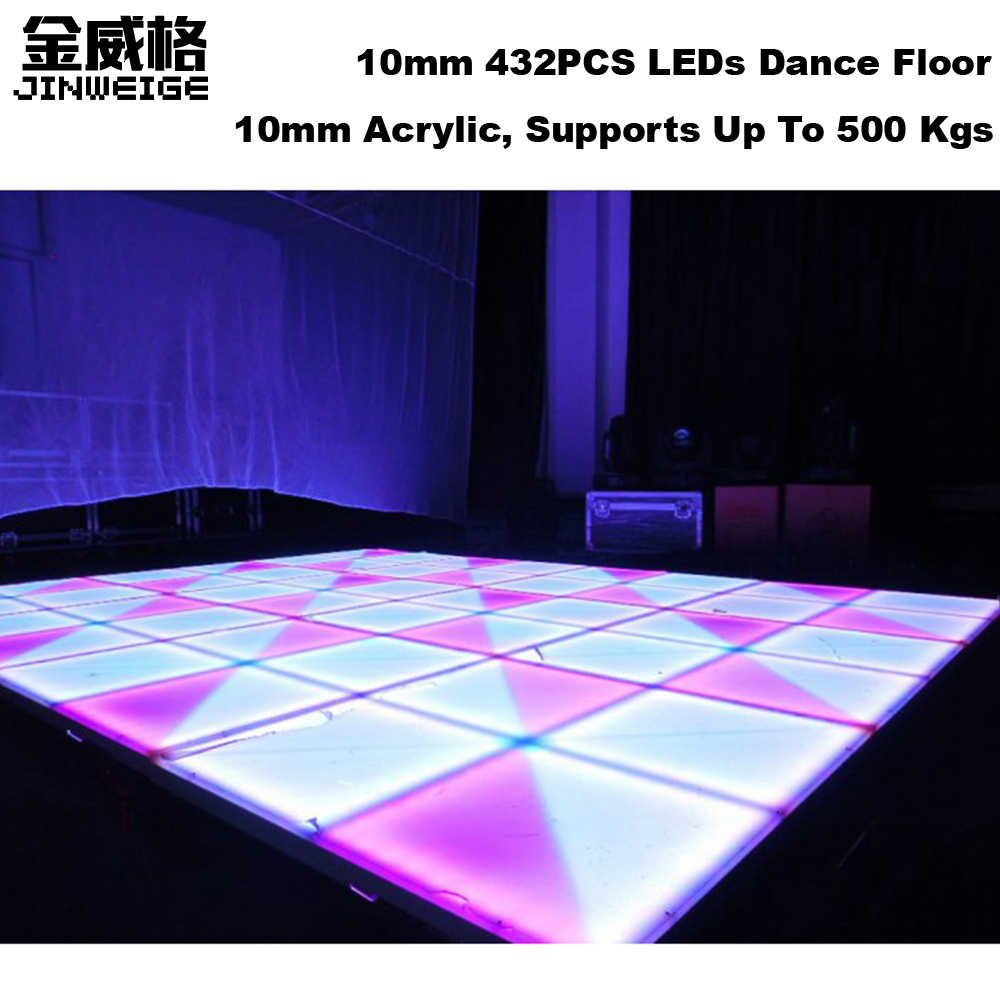 1M*1M 10mm 432PCS RGB LED Party Dance Floor Wedding Equipments From China IP65 Waterproof