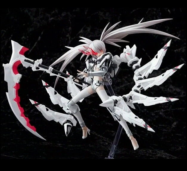 ФОТО Classic Anime White Rock Shooter Action Figure Toys Figma SP033 Black Rock Shooter Figure 15cm Boxed Men Game Toys Collection