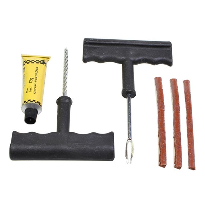 Car Tire Repair Tools Kit For Tubeless Emergency Tyre Puncture Plug Repair Block Air Leaking Auto Motorbike Repair Kit