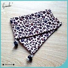 Lymouko 2pcs/Lot Fashion Leopard Print Soft Sunglasses Pouch for Women Cotton Cloth Portable Eyewear Holder Glasses Bag