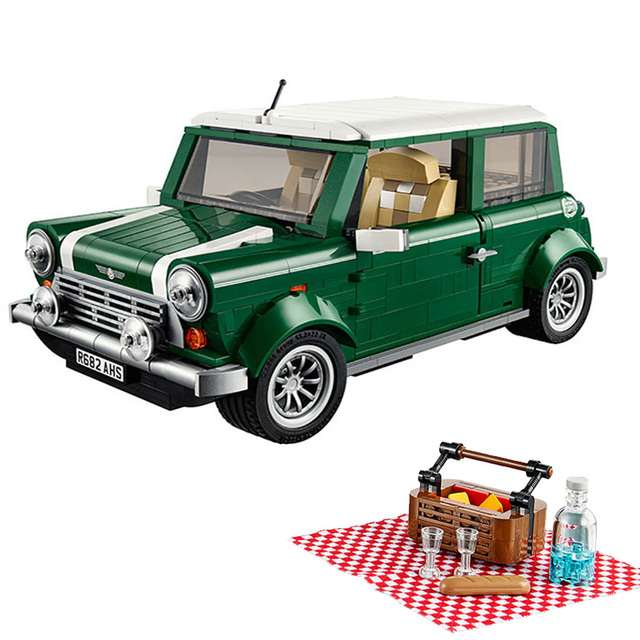 Creator series the MINI Cooper model Building Blocks set Classic Compatible legoed Technic Car Toys for children gifts