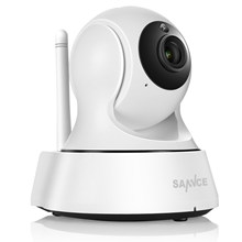 Sannce câmera de vigilância residencial, ip wi-fi sem fio mini rede wi-fi 720p visão noturna cctv câmera de monitoramento de bebê