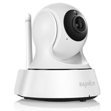 SANNCE bezpieczeństwo w domu IP kamera Wi Fi bezprzewodowy mini kamera sieciowa nadzoru Wifi 720P Night Vision kamera telewizji przemysłowej niania elektroniczna baby monitor