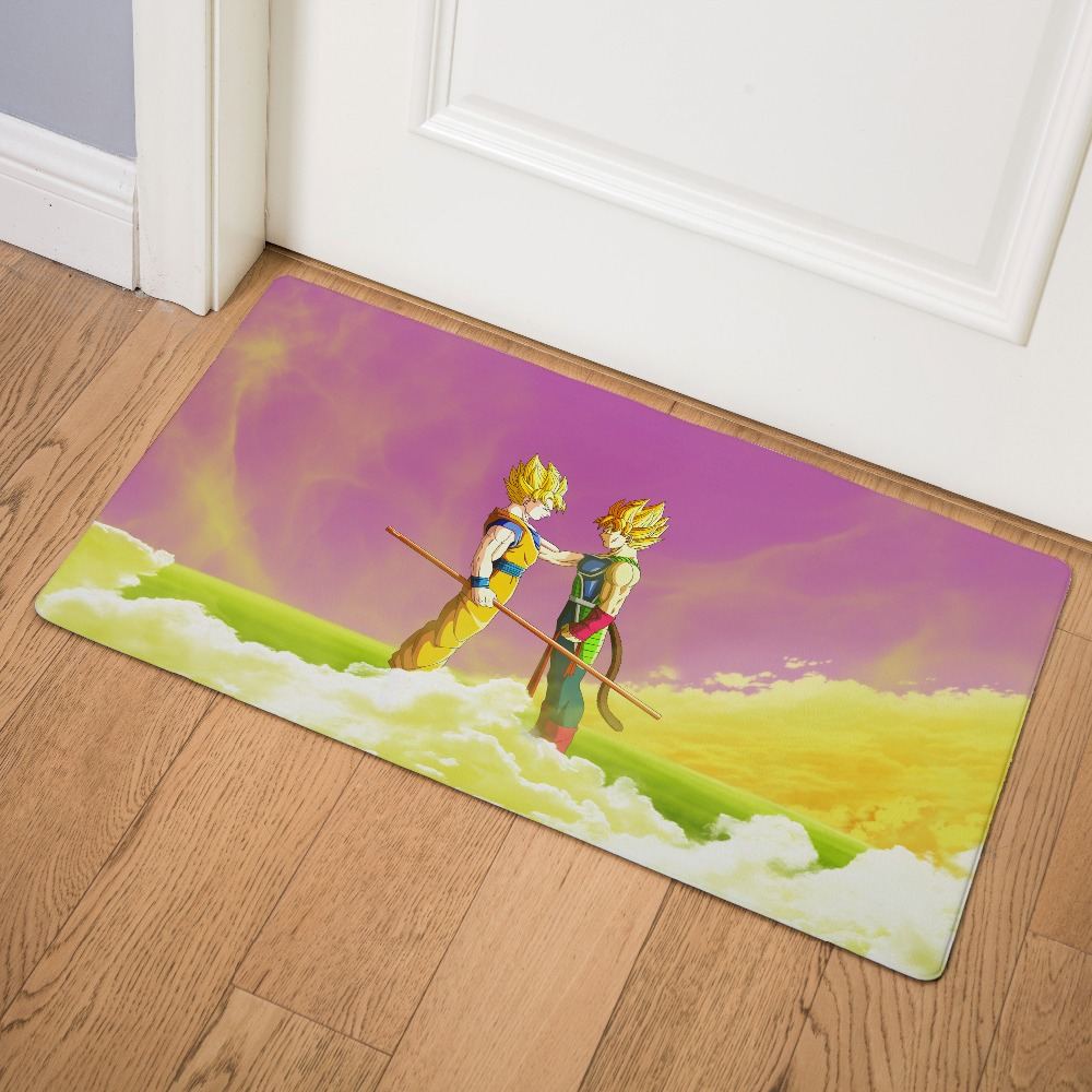 Cartoon Anime Dragon Ball Super Saiyan Entrance Door Mat PVC Kitchen Carpet Non slip Floor Mat